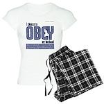 Choose to Obey BLUE Women's Light Pajamas