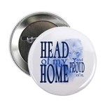 """Head of my Home (Blue) 2.25"""" Button (10 pack)"""