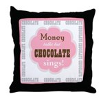Chocolate Sings Throw Pillow