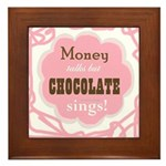 Chocolate Sings Framed Tile