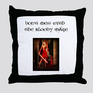 Bloody Mage Throw Pillow