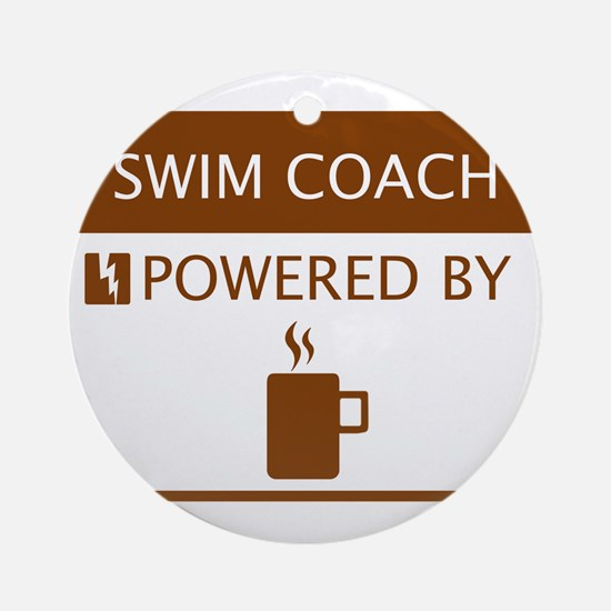 Swim Coach Powered by Coffee Ornament (Round)