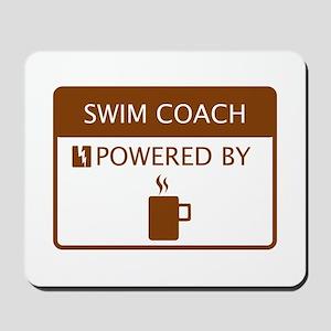 Swim Coach Powered by Coffee Mousepad