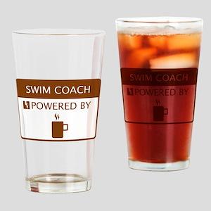 Swim Coach Powered by Coffee Drinking Glass