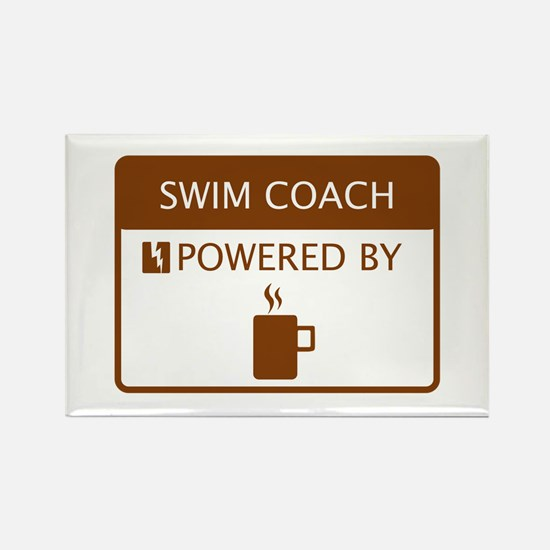 Swim Coach Powered by Coffee Rectangle Magnet