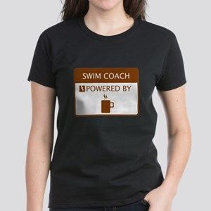 Swim Coach Powered by Coffee Women's Dark T-Shirt