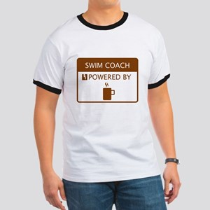 Swim Coach Powered by Coffee Ringer T