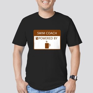 Swim Coach Powered by Coffee Men's Fitted T-Shirt