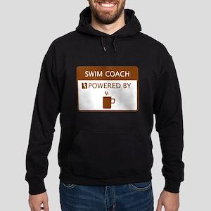 Swim Coach Powered by Coffee Hoodie (dark)
