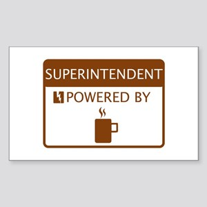 Superintendent Powered by Coffee Sticker (Rectangl