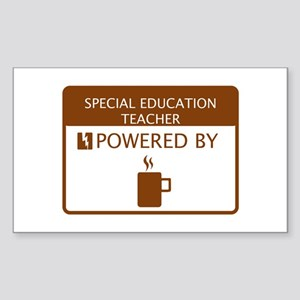 History teacher powered by coffee stickers cafepress special education teacher powered by coffee sticke reheart Image collections