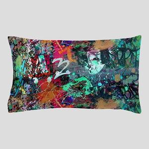 Graffiti and Paint Splatter Pillow Case