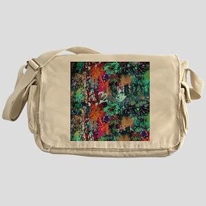 Graffiti and Paint Splatter Messenger Bag