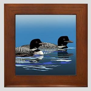 loon family Framed Tile