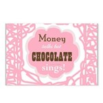 Chocolate Sings Postcards (package Of 8)