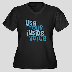 Use You Inside Voice Women's Plus Size V-Neck Dark