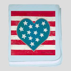 American Love baby blanket