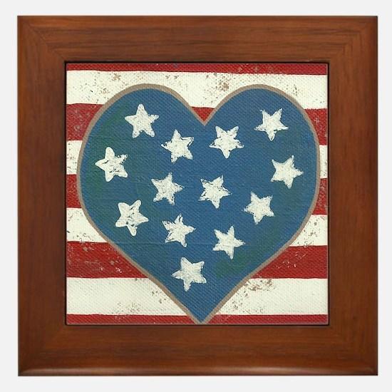 American Love Framed Tile
