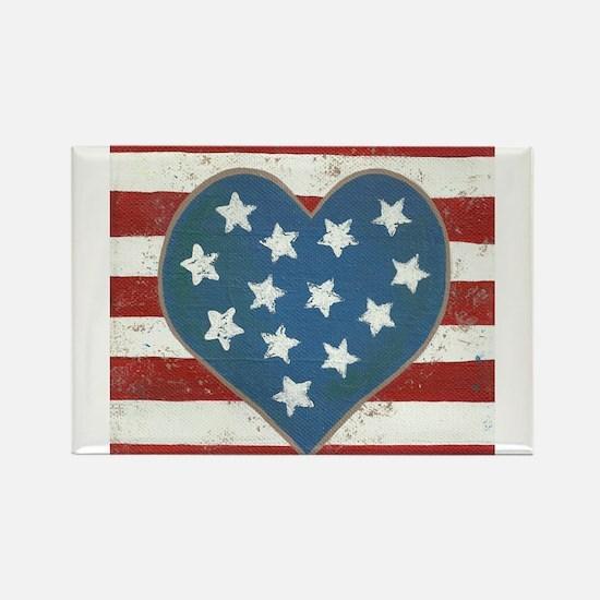 American Love Rectangle Magnet