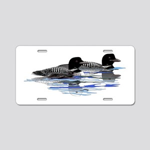 loon family Aluminum License Plate
