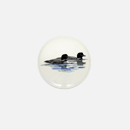 loon family Mini Button