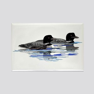 loon family Rectangle Magnet