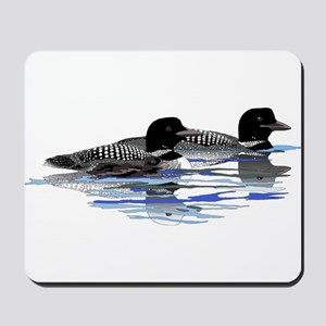 loon family Mousepad
