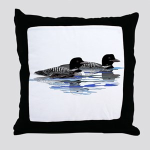 loon family Throw Pillow