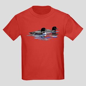 loon family Kids Dark T-Shirt
