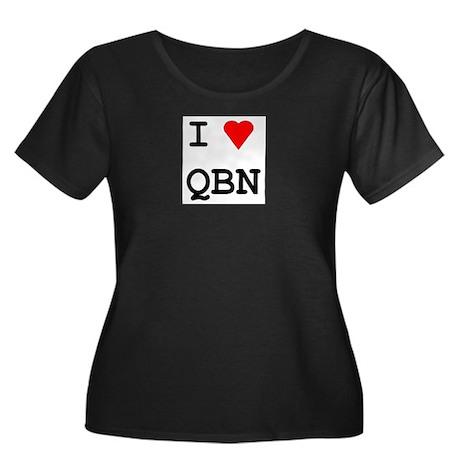 Love Queanbeyan Women's Plus Size Scoop Neck Dark