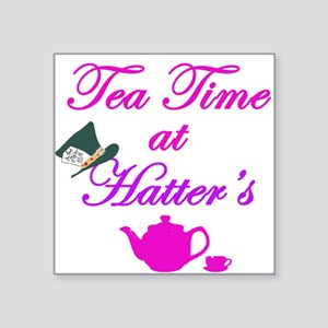 """Tea Time at Hatters Square Sticker 3"""" x 3"""""""