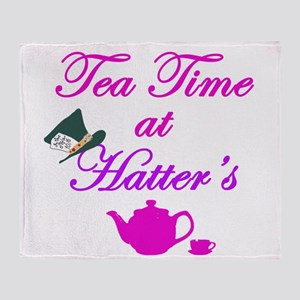 Tea Time at Hatters Throw Blanket