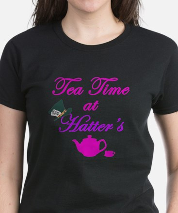 Tea Time at Hatters Women's Dark T-Shirt