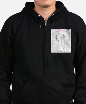 Silly boys, bows are for girls (in pink) Zip Hoodie