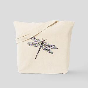 Pointilist Gem Studded Dragon Fly Tote Bag