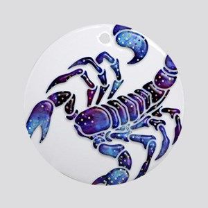 Celestial Rainbow Scorpion Ornament (Round)