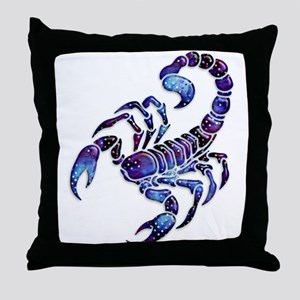 Celestial Rainbow Scorpion Throw Pillow