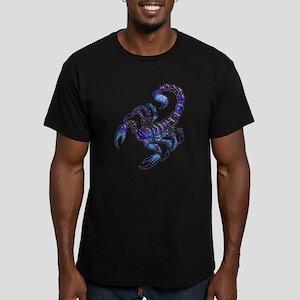 Celestial Rainbow Scorpion Men's Fitted T-Shirt (d