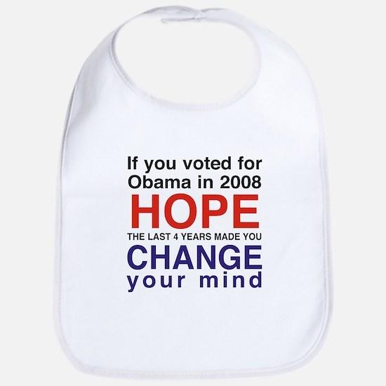 Hope and Change presidents Bib