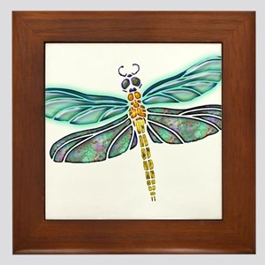 Glowing Stained Glass and Abalone Shell Dragonfly