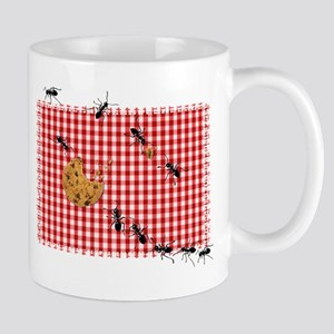 Picnic Ants Marching Across Red Checked Cloth Mug