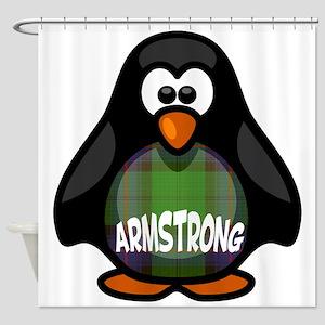 Armstrong Tartan Penguin Shower Curtain