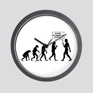 The Evolution Of Man. Turn Back Wall Clock