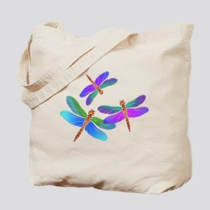 Dive Bombing Iridescent Dragonflies Tote Bag