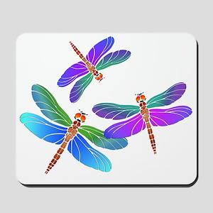 Dive Bombing Iridescent Dragonflies Mousepad