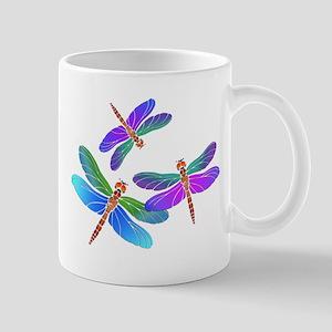 Dive Bombing Iridescent Dragonflies Mug