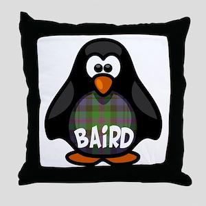 Baird Tartan Penguin Throw Pillow