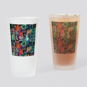 Graffiti and Paint Splatter Drinking Glass