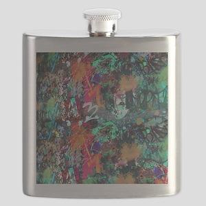 Graffiti and Paint Splatter Flask