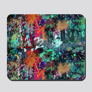 Graffiti and Paint Splatter Mousepad